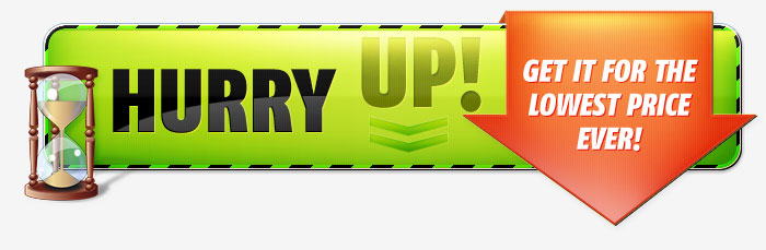 green hurry up banner