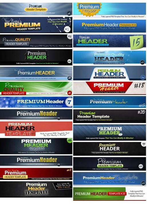 premium header templates