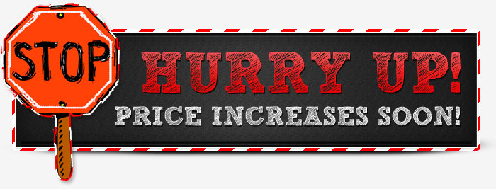red hurry up banner
